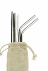 Weety Metallstrohhalm-Set aus rostfreiem Stahl
