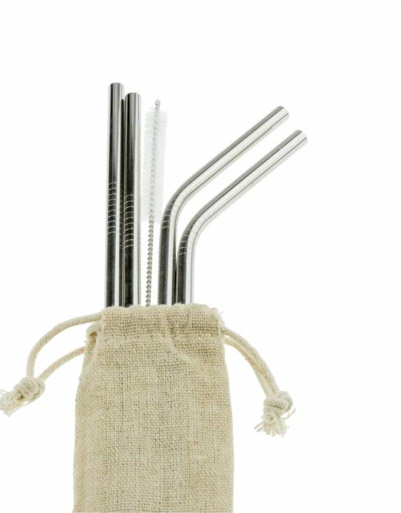Weety Metallstrohalm-Set aus rostfreiem Stahl