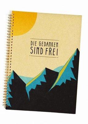 Saluti Notizbuch »Gedanken«