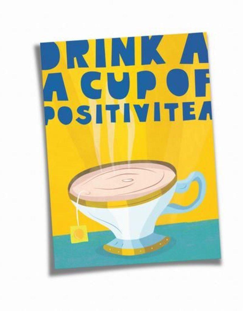 Saluti Postkarte »Positivitea« aus Recyclingpapier