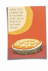 Saluti Sustainable Greetings Postkarte »Kuchen« aus Recyclingpapier