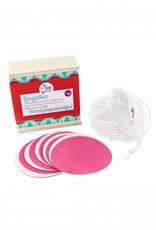 Lamazuna Set ökologische Abschminkpads (Pappelholzschachtel, 10 Pads, Wäschesäckchen)