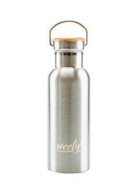 Weety Edelstahlflasche mit Bambusdeckel