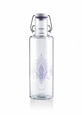 "soulbottles Glasflasche 0,6l ""Just breathe"""