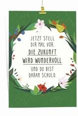 """Saluti Sustainable Greetings Poster """"Zukunft"""" aus Recyclingpapier"""