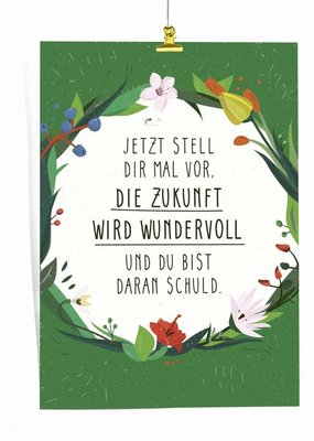 "Saluti Sustainable Greetings Poster ""Zukunft"""