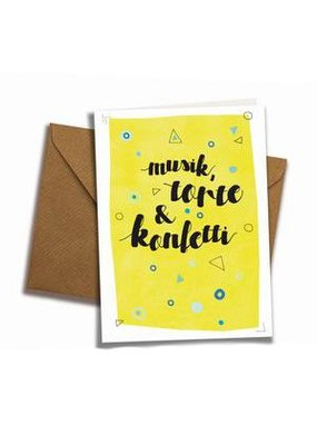 franzizo Klappkarte »Konfetti« mit Umschlag