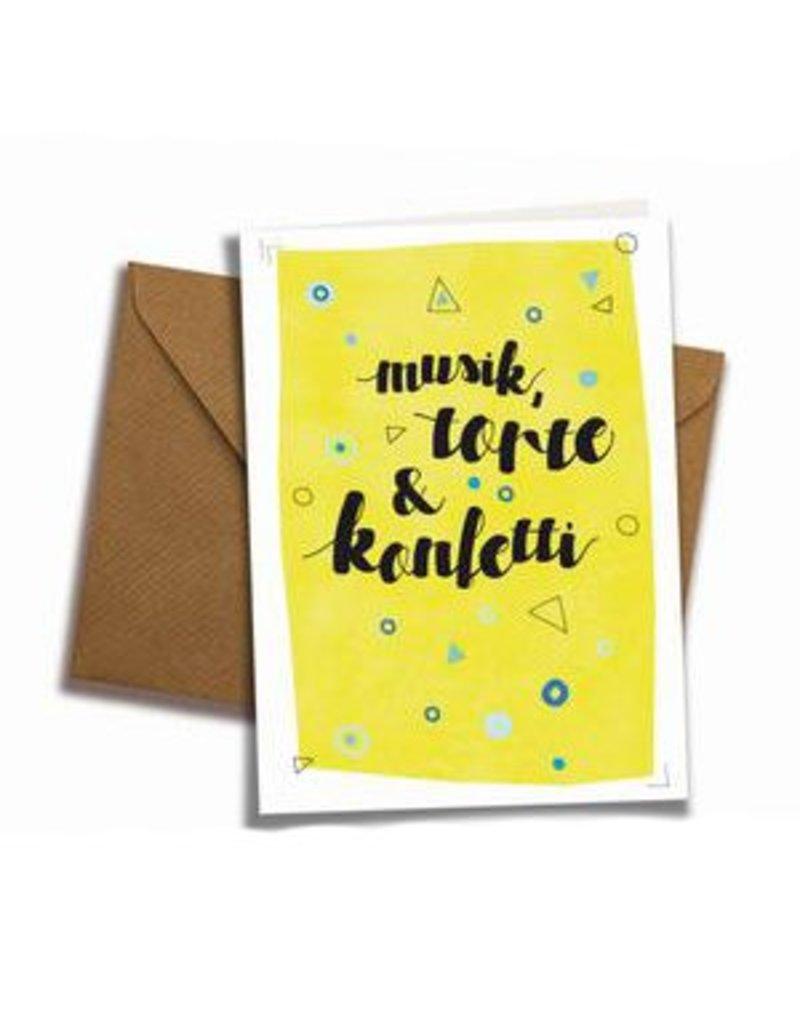 Saluti Klappkarte »Konfetti« mit Umschlag aus Recyclingpapier