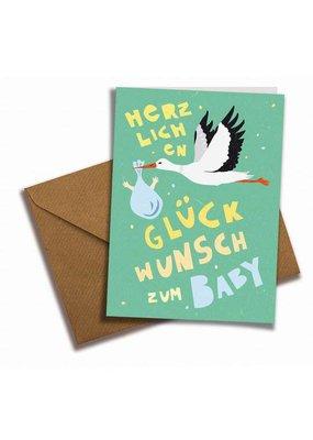 Saluti Klappkarte »Babyglück« mit Umschlag