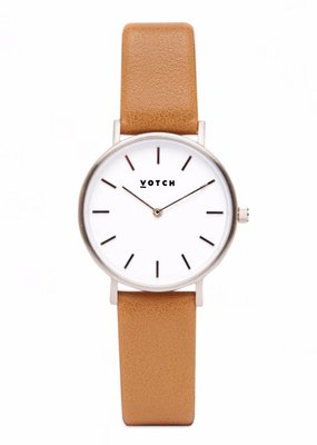 Votch Vegane Uhr - The Tan and Silver Petite