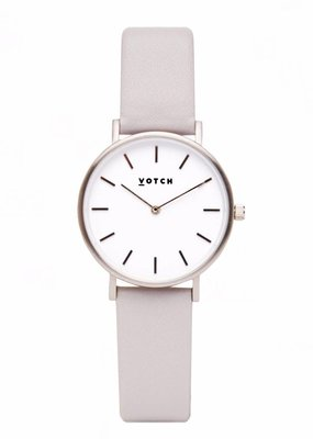 Votch Vegane Uhr - The Light Grey and Silver Petite