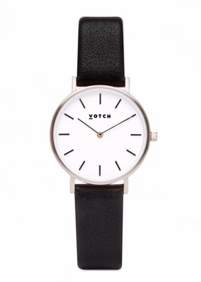 Votch Vegane Uhr - The Black and Silver Petite