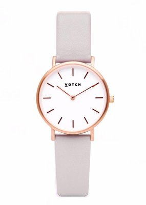 Votch Vegane Uhr - The Light Grey and Rose Gold  Petite