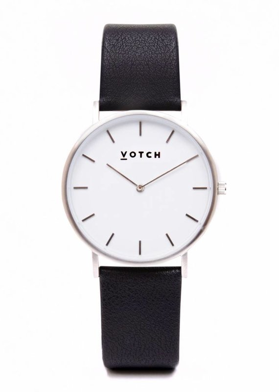 Votch Vegane Uhr - The Black and Silver Classic