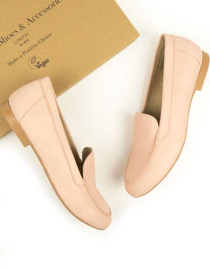 Will's Vegan Shoes Damenslipper Loafer / pink