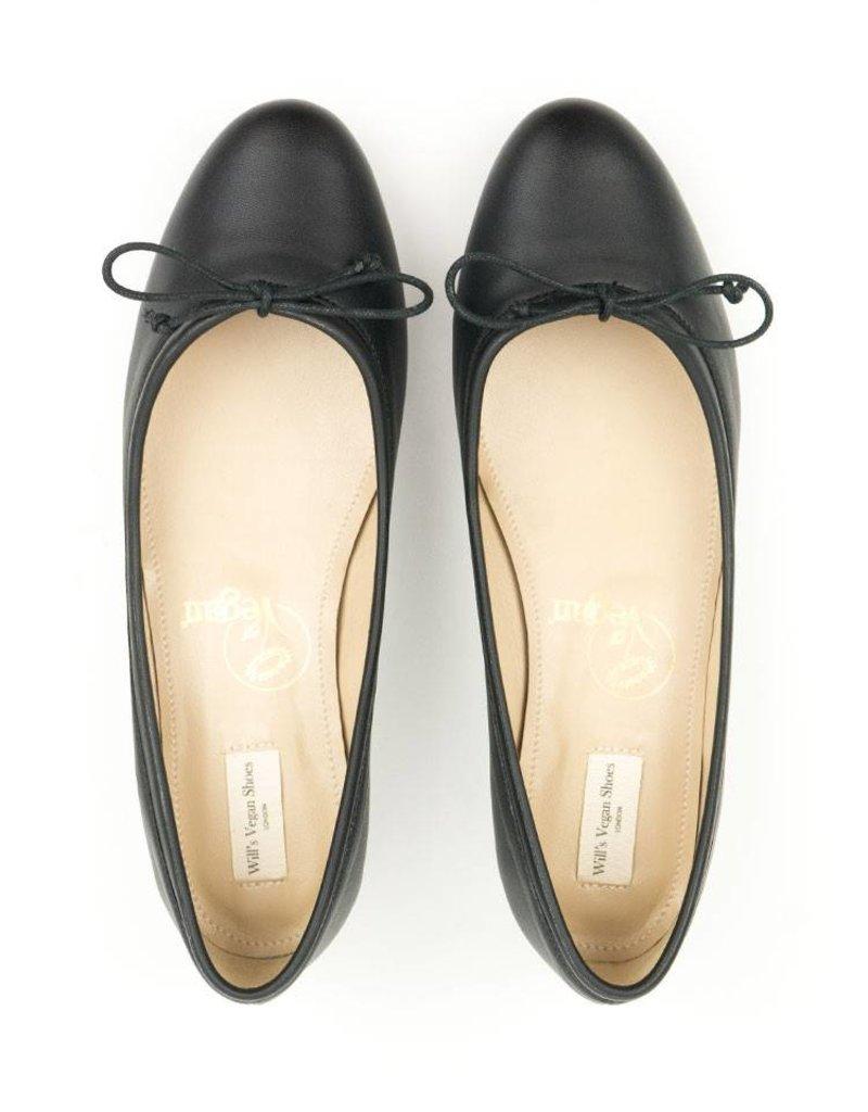 Will's Vegan Shoes Ballerina / schwarz