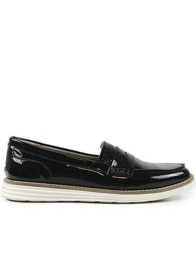 Will's Vegan Shoes Damenslipper Loafer / schwarz