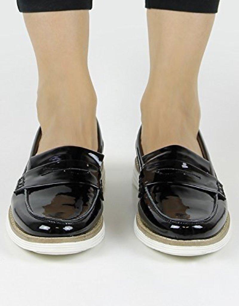 Will's Vegan Shoes Ldt Damenslipper Loafer / schwarz