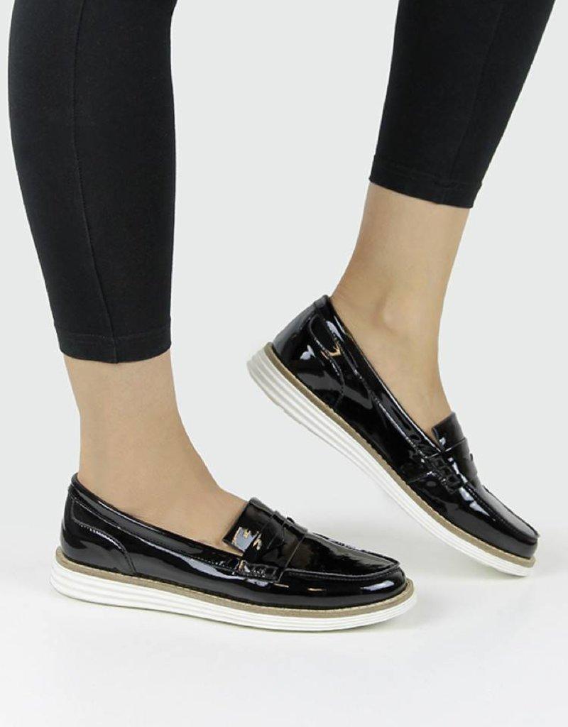 Damenslipper Loafer / schwarz