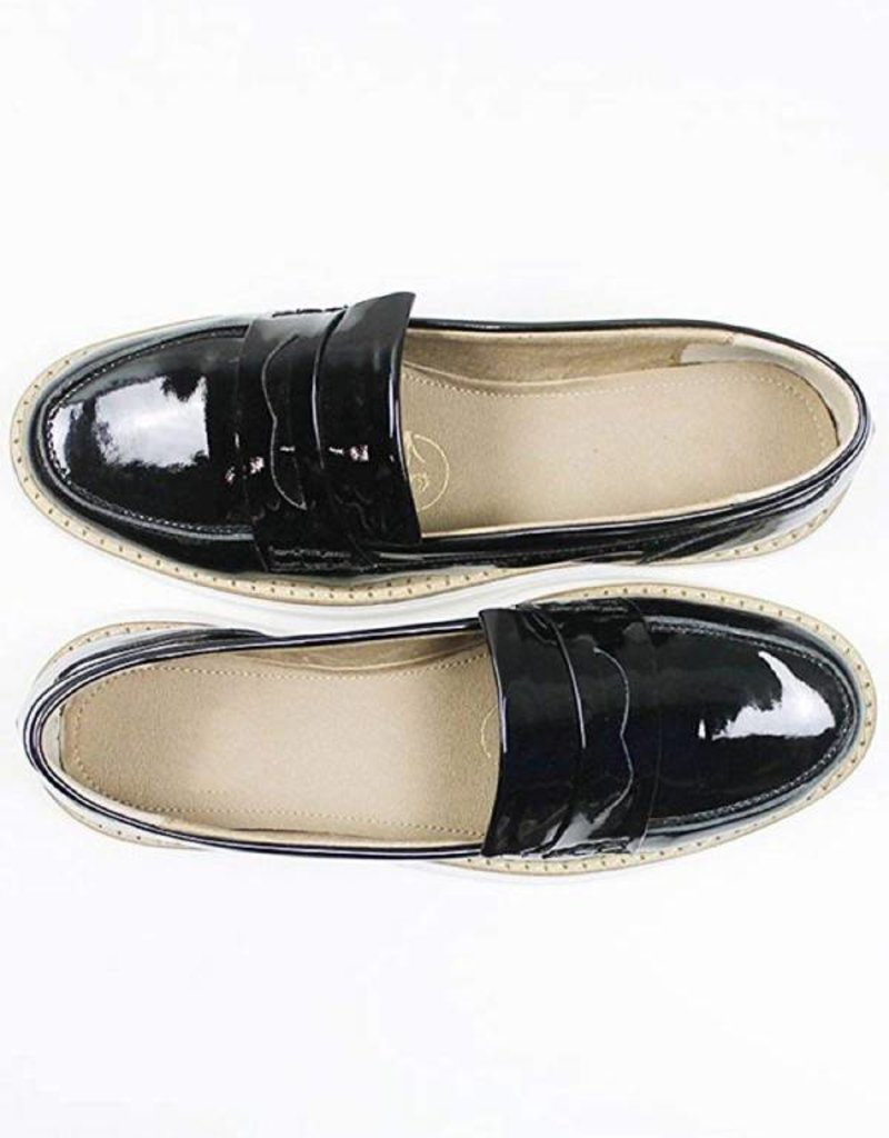 Will's Vegan Shoes Damenslipper Loafer / schwarz