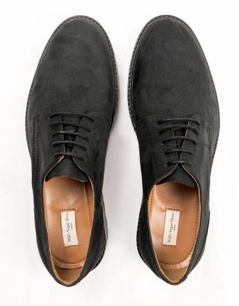 Will's Vegan Shoes Schnürschuh Continental Derbys / schwarz