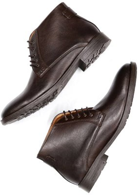 Will's Vegan Shoes Stiefel Chukka Boots / dunkelbraun
