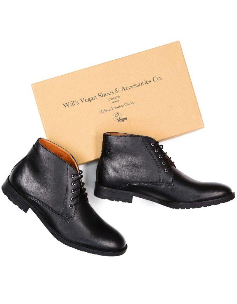 Will's Vegan Shoes Ldt Stiefel Chukka Boots / schwarz