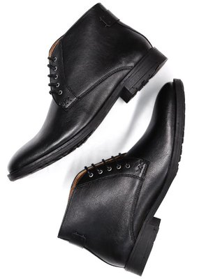 Will's Vegan Shoes Stiefel Chukka Boots / schwarz