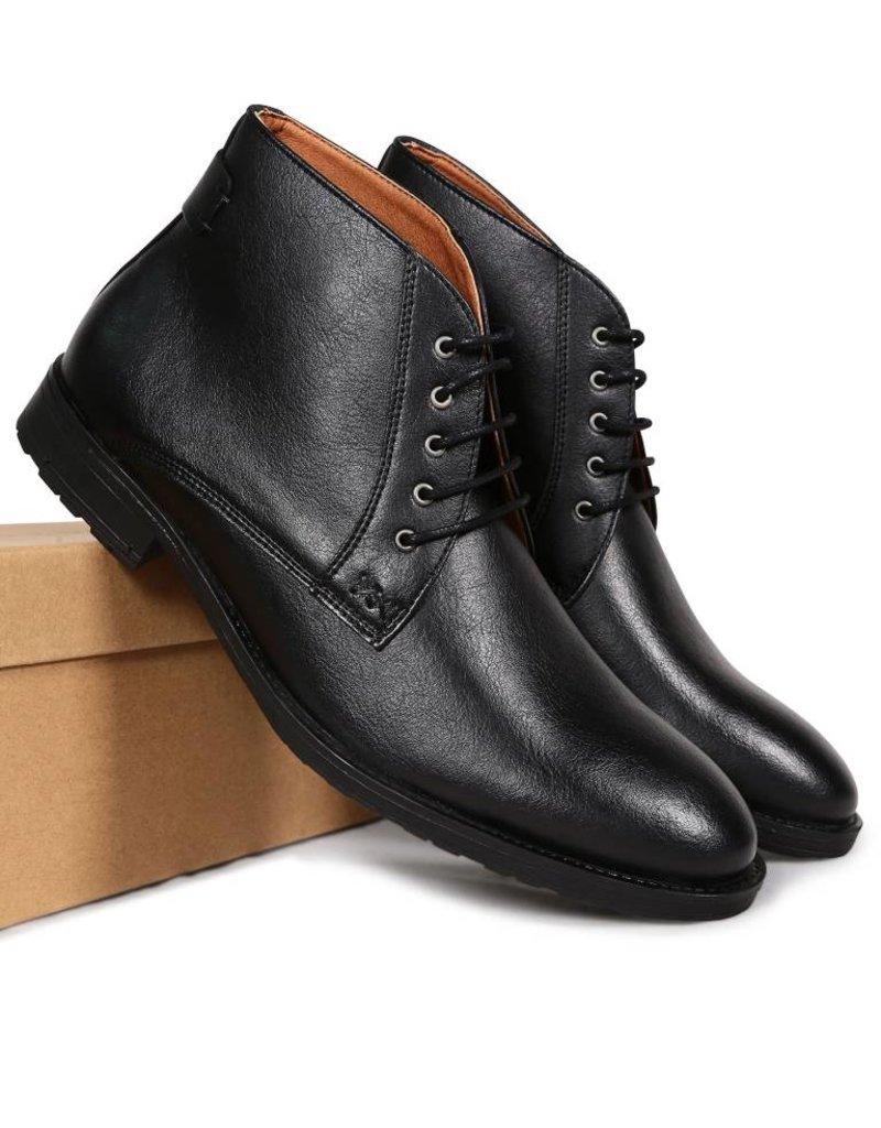 Will's Vegan Shoes Stiefel Chukka Boots / schwarz