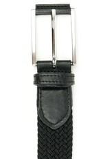 Gewebter Herrengürtel 3,5 cm / schwarz