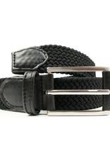 Will's Vegan Shoes Gewebter Herrengürtel 3,5 cm / schwarz