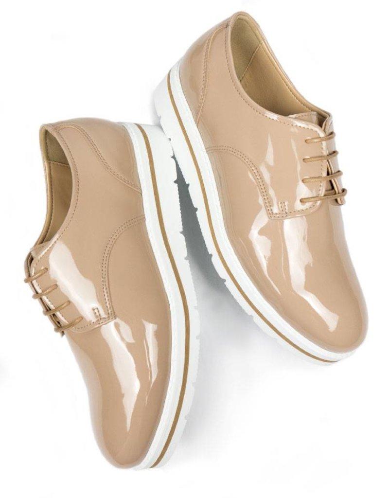 Will's Vegan Shoes Halbschuh Flatform Laceups / sand