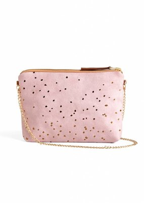 Lee Coren Clutch mit Kettenriemen / rose