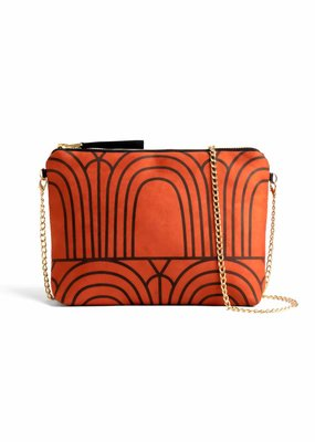 Lee Coren Clutch mit Kettenriemen / sunset