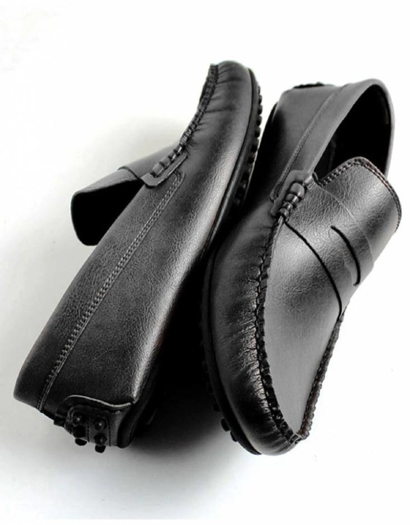 Will's Vegan Shoes Herrenslipper Penny Driving Loafers  / schwarz
