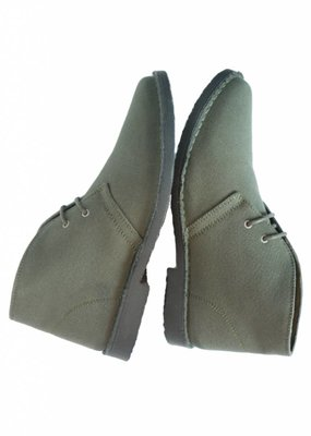 Will's Vegan Shoes Ldt Stiefel Canvas Desert Boots / olivgrün