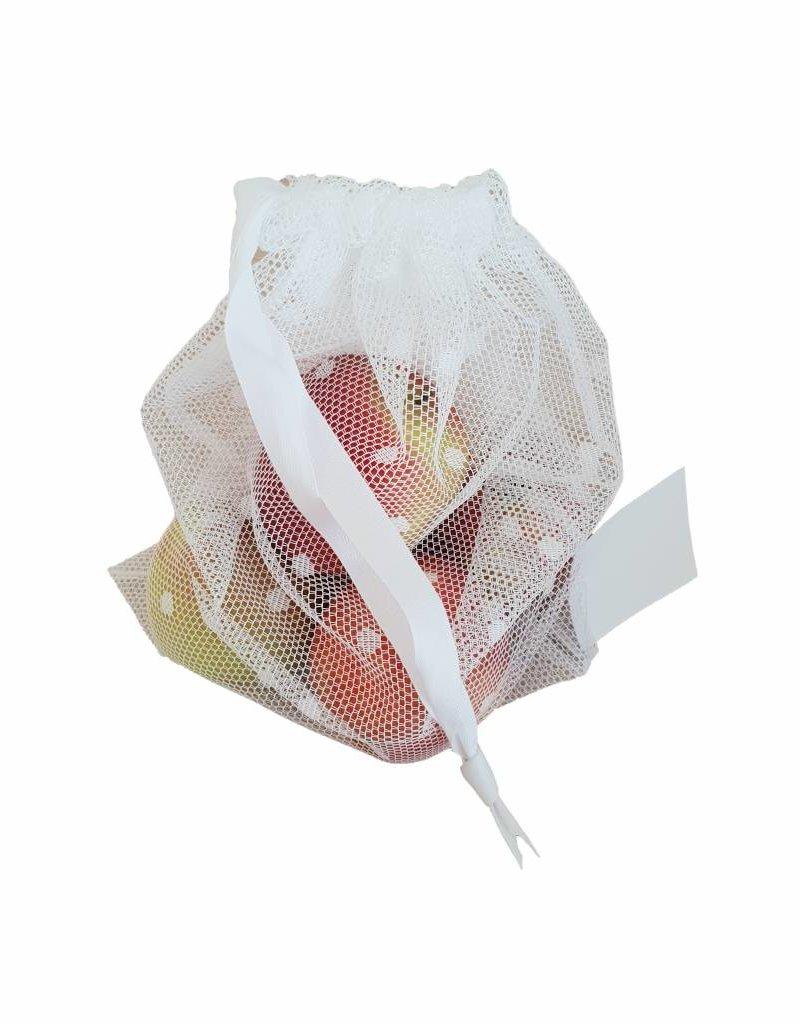CONTACT Arbeit Nachhaltiger Fruchtsack aus Recycling-Gardinen