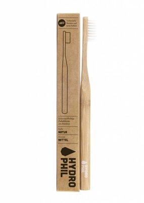 Hydrophil Nachhaltige Zahnbürste aus Bambus - mitteilweich