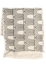 Lee Coren Schal aus japanischer Baumwolle - arches black
