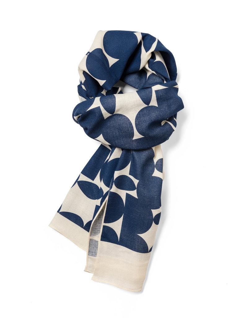 Lee Coren Schal aus japanischer Baumwolle - jewel indigo