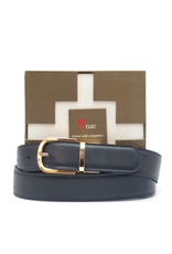 NAE Vegan Shoes Wendegürtel für Damen / schwarz  & braun