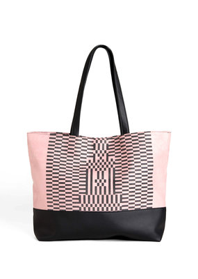 Lee Coren Shopper Dérive Tote Bag / rose