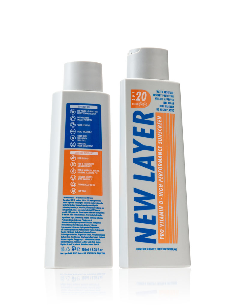 New Layer Vegane Sonnencreme LSF20 - 200 ml