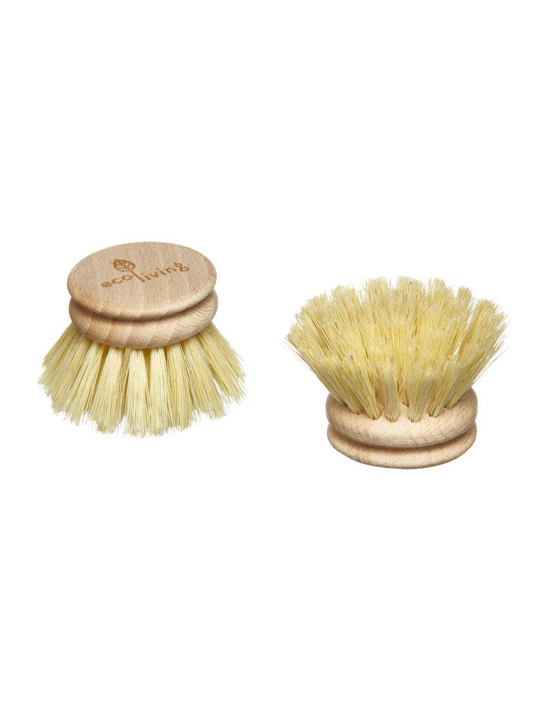 eco Living Spülbürste und 2 Ersatzköpfe aus Holz