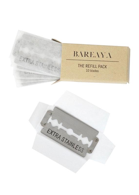 Bareaya Rasierklingen für Rasierhobel, 10 Stück