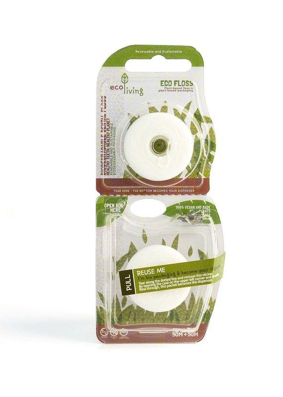 eco Living Vegane, pflanzliche Zahnseide
