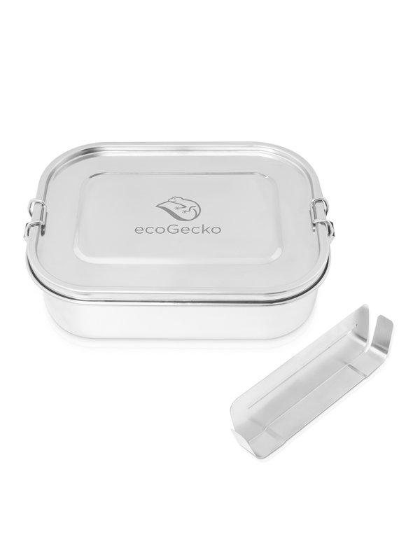 ecoGecko Brotdose aus Edelstahl, 1400 ml