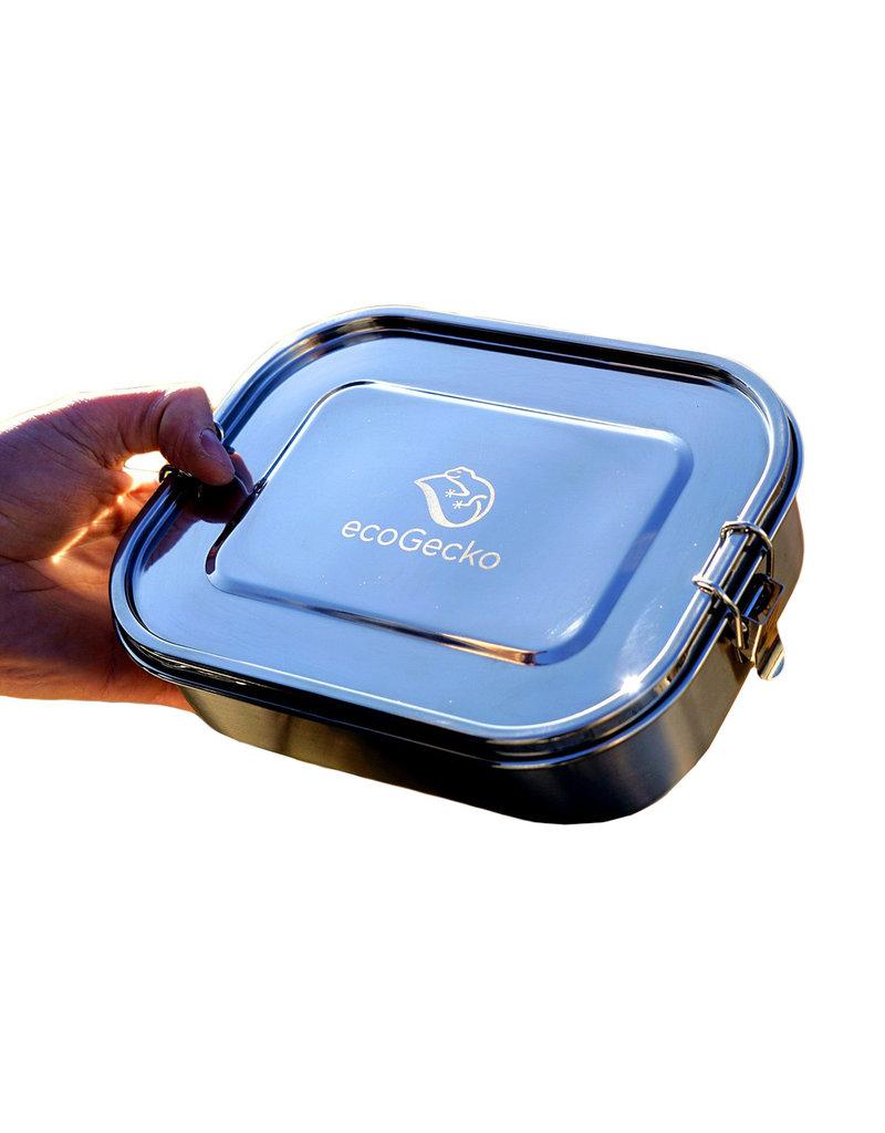 ecoGecko Auslaufsichere Brotdose aus Edelstahl, 1400 ml