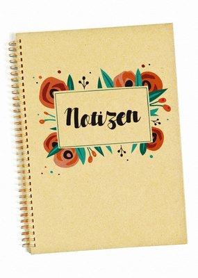 Saluti Notizbuch »Blumig«