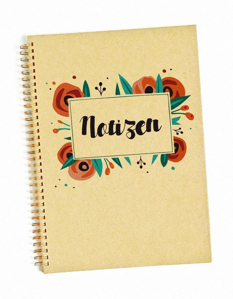 Saluti Sustainable Greetings Notizbuch »Blumig« aus Graspapier